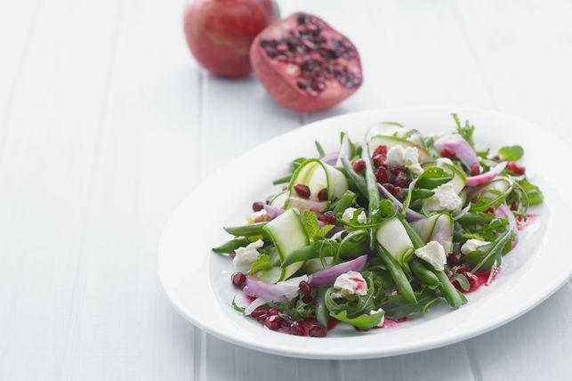 Pomegranate and mixed green salad