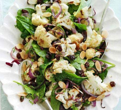 Warm cauliflower salad