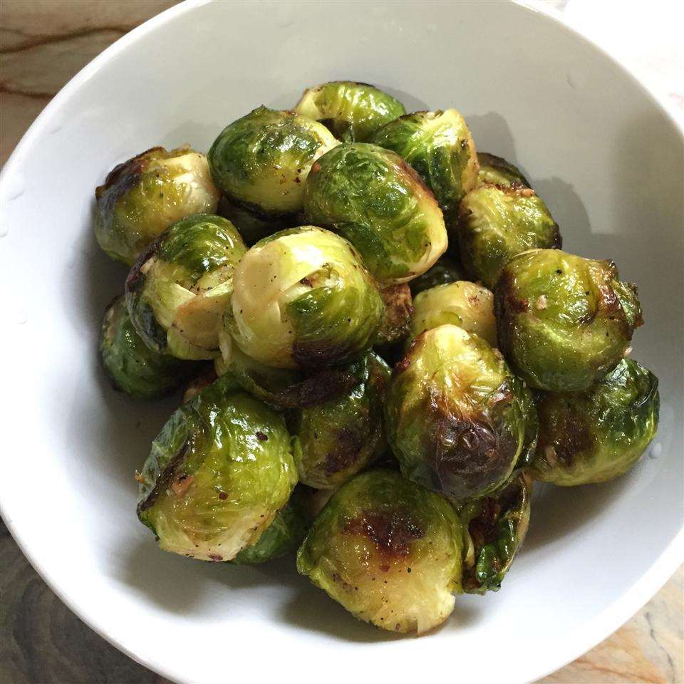 Brussels sprouts in the oven